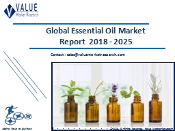 Essential Oil Market Size, Share & Industry Forecast Research Report, 2025