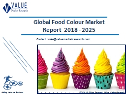 Food Colour Market Size, Share & Industry Forecast Research Report, 2025