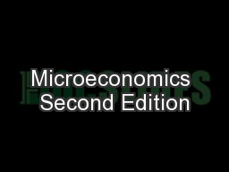 Microeconomics Second Edition