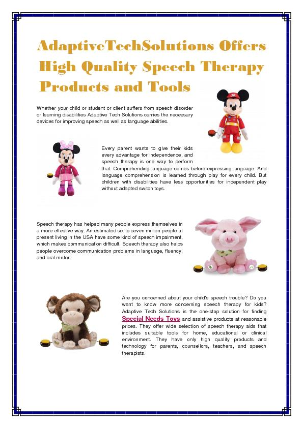 Adaptive techsolutions   special needs toys