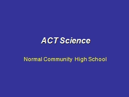 ACT Science Normal Community High School