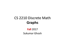 CS  2210 Discrete  Math Graphs