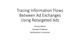 Tracing Information Flows