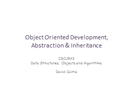 Object Oriented Development,