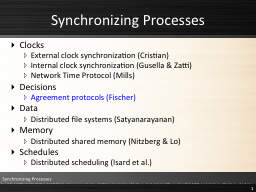 Synchronizing Processes Clocks