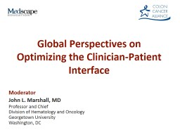 Global Perspectives on Optimizing the Clinician-Patient Interface