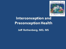 Interconception  and Preconception Health