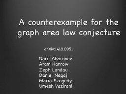 A counterexample for the graph area law conjecture