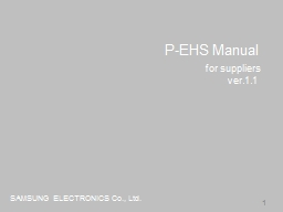 1 P-EHS Manual for suppliers