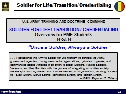 Soldier for Life/Transition