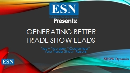 Generating Better Trade Show Leads