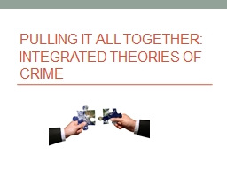 Pulling It All Together: Integrated Theories of Crime