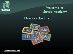 Welcome to Zariba  Academy