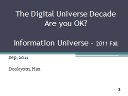 The Digital Universe Decade