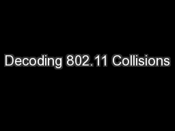 Decoding 802.11 Collisions