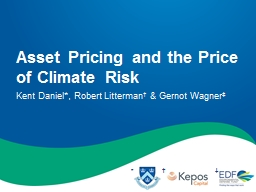 Asset  Pricing  and the