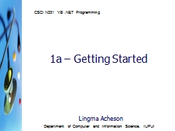 1a  –  Getting Started