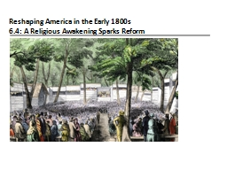 Reshaping America in the Early 1800s