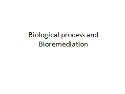 Biological process and Bioremediation