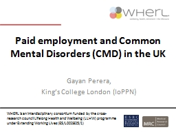 Paid employment and  Common