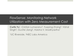 FlowSense : Monitoring Network Utilization with Zero Measurement Cost
