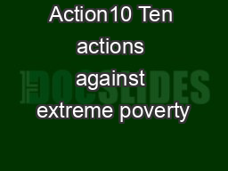 Action10 Ten actions against extreme poverty