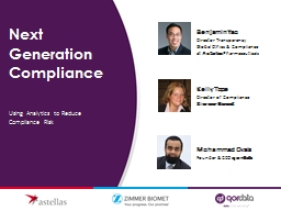 Next Generation Compliance
