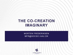 The Co-creation imaginary