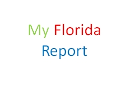 My   Florida   Report My state Tree