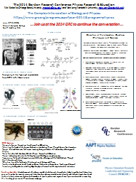 The 2014 Gordon Research Conference:q  Physics Research & Education