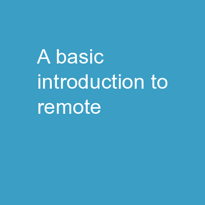 A Basic Introduction to Remote Sensing (RS)