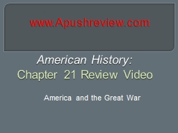 American History:  Chapter 21 Review Video