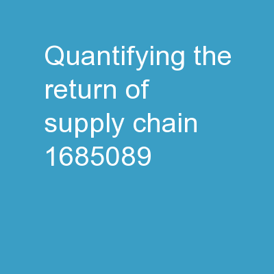 Quantifying the Return of Supply Chain Security Countermeasures