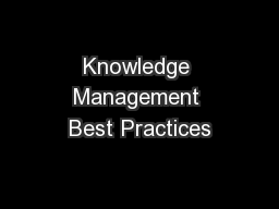 Knowledge Management Best Practices