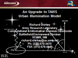 An Upgrade to TAWS Urban Illumination Model