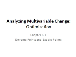 Analyzing Multivariable Change: