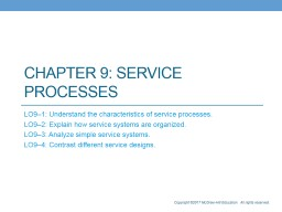 Chapter 9: Service  Processes