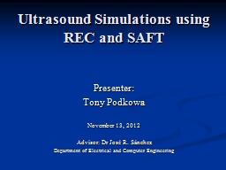Ultrasound Simulations using REC and SAFT