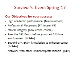 Survivor's Event Spring 17
