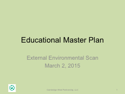 Educational Master Plan External Environmental Scan