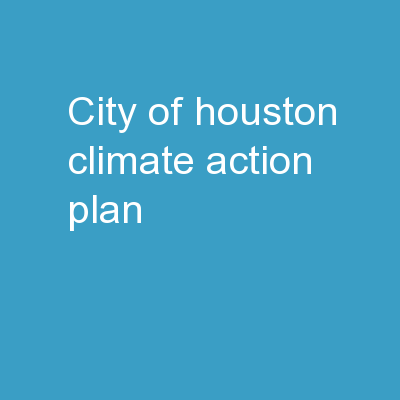 City of Houston Climate Action Plan