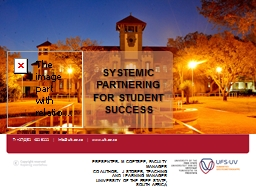 Systemic  partnering for student success