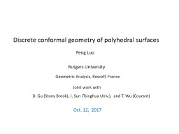 Discrete conformal geometry of polyhedral surfaces