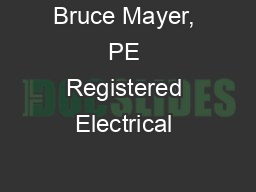 Bruce Mayer, PE Registered Electrical & Mechanical Engineer