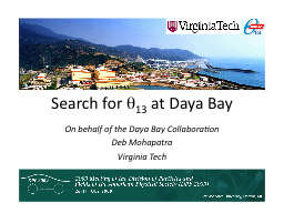 Search for  q 13  at  Daya