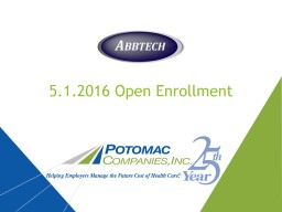 5 .1.2016 Open Enrollment