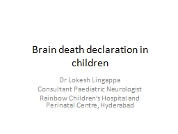 Brain death declaration in children