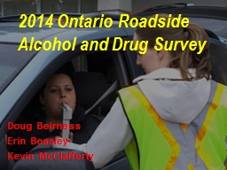 2014 Ontario Roadside Alcohol and Drug Survey