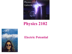 Electric Potential Physics 2102 PowerPoint PPT Presentation