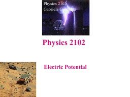Electric Potential Physics 2102